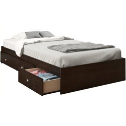 Pemberly Row Twin Storage Bed in Espresso