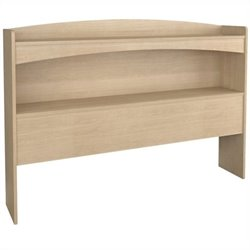 Pemberly Row Full Bookcase Headboard in Natural Maple