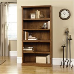 Pemberly Row 5 Shelf Bookcase in Oiled Oak Finish