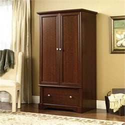 Pemberly Row Wardrobe Armoire in Cherry