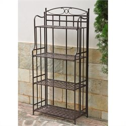 Pemberly Row Outdoor Iron Bakers Rack