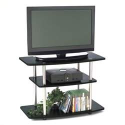 Pemberly Row 3-Tier TV Stand in Black