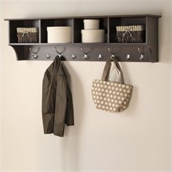 Pemberly Row Wall Hanging Coat Rack in Espresso