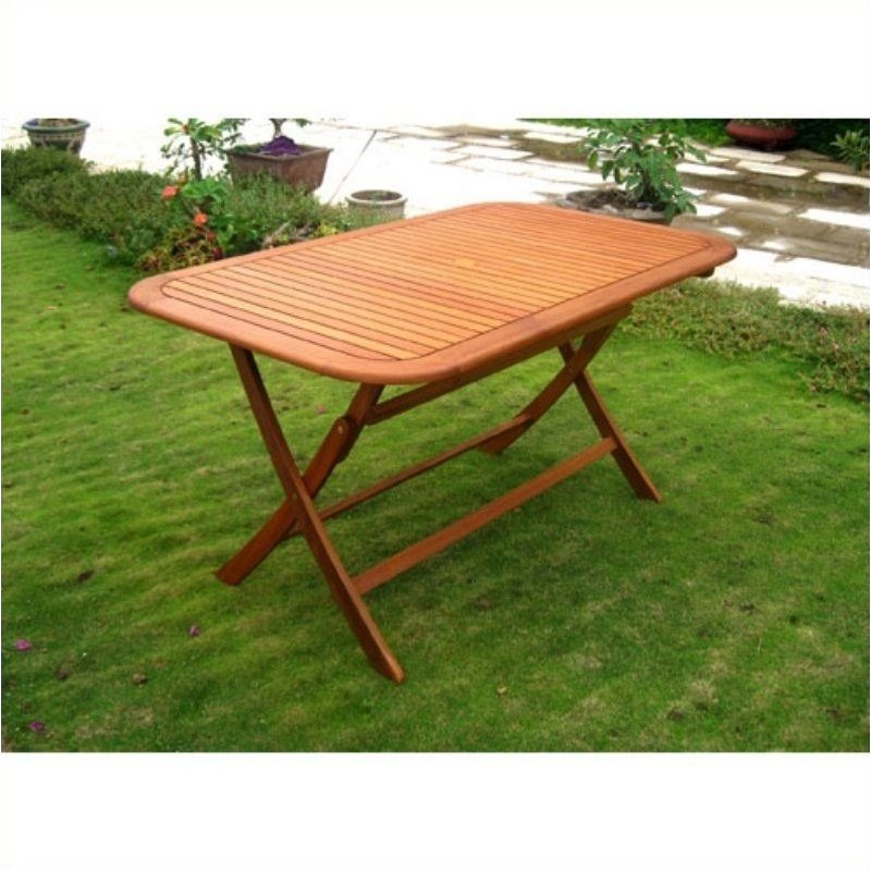 Pemberly Row 59 Folding Table in Balau Stain