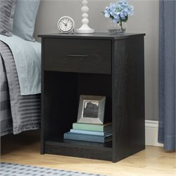 Pemberly Row 1 Drawer Wood Nightstand in Black