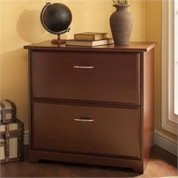 Pemberly Row 2 Drawer Lateral File Cabinet in Harvest Cherry