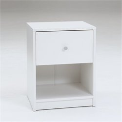 Pemberly Row 1 Drawer Nightstand in White