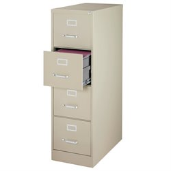 Pemberly Row 4 Drawer Letter File Cabinet in Putty
