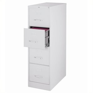 Pemberly Row 4 Drawer Letter File Cabinet in Gray