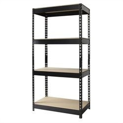 Pemberly Row 30x60 Heavy Duty 4 Shelf Storage Unit