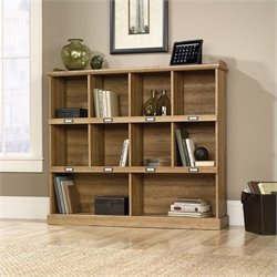 Pemberly Row Bookcase in Scribed Oak Finish