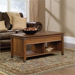 Pemberly Row Lift-Top Coffee Table in Washington Cherry