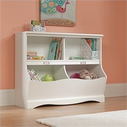 Pemberly Row Bookcase Footboard in Soft White Finish