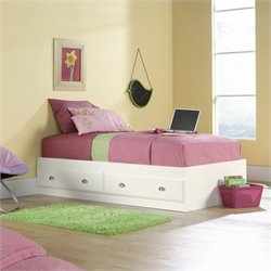 Pemberly Row Twin Mates Bed in Soft White