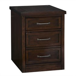 Pemberly Row Mobile Filing Cabinet in Chestnut Finish