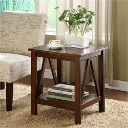 Pemberly Row End Table in Antique Tobacco