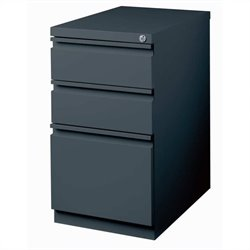 Pemberly Row 3 Drawer Mobile File Cabinet in Charcoal