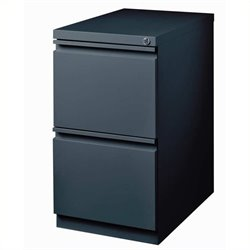 Pemberly Row 2 Drawer Mobile File Cabinet in Charcoal