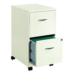 Pemberly Row 2 Drawer Steel File Cabinet in White