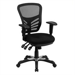 Pemberly Row Mid-Back Mesh Office Chair in Black