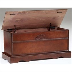 Pemberly Row Cedar Chest in Cherry Finish