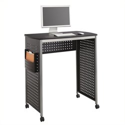 Pemberly Row Standing Desk Workstation in Black