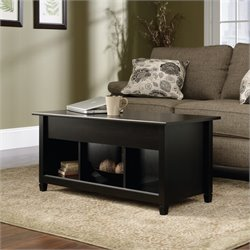 Pemberly Row Lift Top Coffee Table in Estate Black
