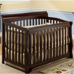 Pemberly Row 4 In 1 Crib with Mini Rail in Espresso