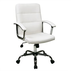 Pemberly Row White Office Chair