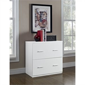 Pemberly Row 2 Drawer Lateral File Cabinet in White