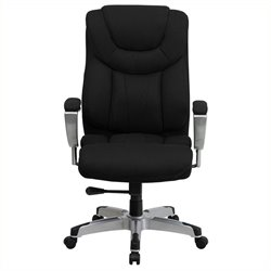 Pemberly Row Tall Office Chair with Arms in Black