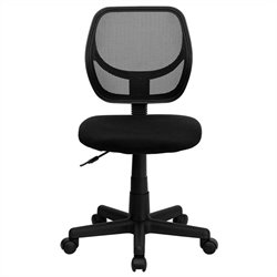 Pemberly Row Mid-Back Black Mesh Task and Computer Office Chair