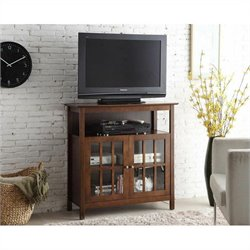Pemberly Row Big Sur Highboy TV Stand - Espresso