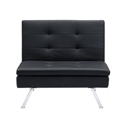 Pemberly Row Convertible Chair in Black