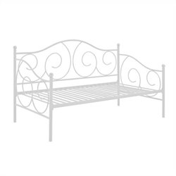 Pemberly Row Metal Twin Daybed in White