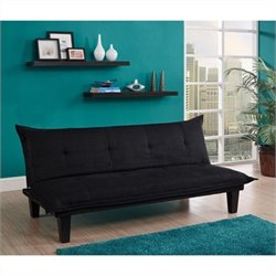Pemberly Row Convertible Futon Sofa in Black