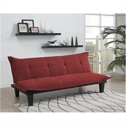 Pemberly Row Convertible Futon Sofa in Red