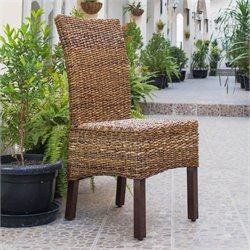 Pemberly Row Arizona Woven Abaca Dining Chair (Set of 2)