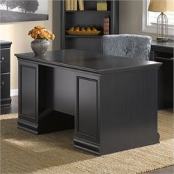 Pemberly Row 60W Desk in Antique Black