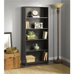 Pemberly Row 5-Shelf Bookcase in Espresso Oak