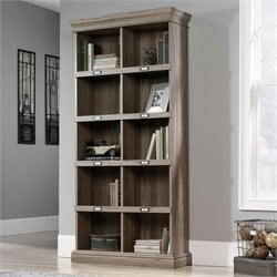 Pemberly Row Tall Bookcase in Salt Oak