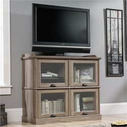 Pemberly Row Highboy TV Stand in Salt Oak