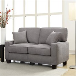 Pemberly Row Loveseat in Glacial Gray