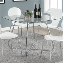 Pemberly Row Dining Table in Silver Chrome