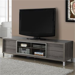 Pemberly Row Euro Style TV Console in Dark Taupe
