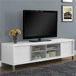 Pemberly Row Euro Style TV Console in White