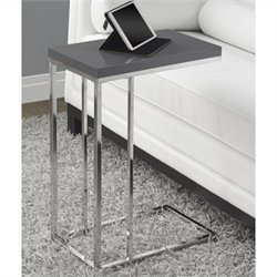 Pemberly Row Accent Table in Glossy Gray