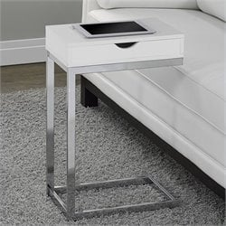 Pemberly Row Accent Table in Glossy White