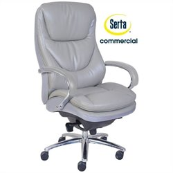 Pemberly Row Executive Office Chair in Grey
