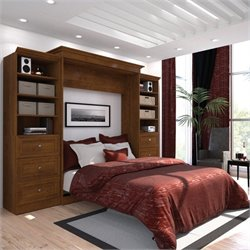 Pemberly Row 115'' 2 Piece Queen Wall Bed in Tuscany Brown